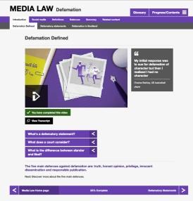 Media Law - tablet