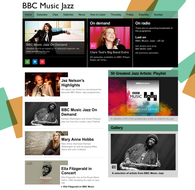 BBC Music Jazz Homepage